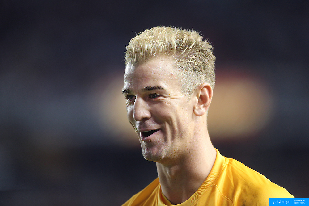 Goalkeeper Joe Hart, Manchester City, during the Manchester City Vs Liverpool FC Guinness International Champions Cup match at Yankee Stadium, The Bronx, New York, USA. 30th July 2014. Photo Tim Clayton