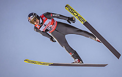 12.01.2019, Stadio del Salto, Predazzo, ITA, FIS Weltcup Skisprung, Val di Fiemme, Herren, 1. Wertungsdurchgang, im Bild Andreas Wellinger (GER) // Andreas Wellinger of Germany during his 1st Competition Jump for the Four Hills Tournament of FIS Ski Jumping World Cup at the Stadio del Salto in Predazzo, Itali on 2019/01/12. EXPA Pictures © 2019, PhotoCredit: EXPA/ JFK