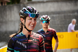 Elena Cecchini (ITA) makes her way to sign on at Giro Rosa 2018 - Stage 9, a 104.7 km road race from Tricesimo to Monte Zoncolan, Italy on July 14, 2018. Photo by Sean Robinson/velofocus.com