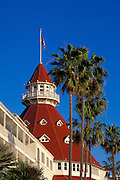 Detail of the Hotel Del Coronado, Coronado Island, San Diego, California USA