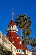 Detail of the Hotel Del Coronado, Coronado Island, San Diego, California USA
