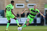 Forest Green Rovers Reece Brown(10) and Forest Green Rovers Joseph Mills(23) during the EFL Sky Bet League 2 second leg Play Off match between Forest Green Rovers and Tranmere Rovers at the New Lawn, Forest Green, United Kingdom on 13 May 2019.