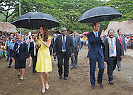 "CATHERINE, DUCHESS OF CAMBRIDGE AND PRINCE WILLIAM.visited replicas of cultural villagers that represented the nine districts of the Solomon Islands on the second day of their 3-day visit to the Solomon Islands..On departure she was presented with a head-garland consisting of frangipani and orchids, Honiara_17/09/2012.Mandatory credit photo: ©Dunlea/DIASIMAGES..""NO UK SALES FOR 28 DAYS""..(Failure to credit will incur a surcharge of 100% of reproduction fees)..                **ALL FEES PAYABLE TO: ""NEWSPIX INTERNATIONAL""**..IMMEDIATE CONFIRMATION OF USAGE REQUIRED:.DiasImages, 31a Chinnery Hill, Bishop's Stortford, ENGLAND CM23 3PS.Tel:+441279 324672  ; Fax: +441279656877.Mobile:  07775681153.e-mail: info@newspixinternational.co.uk"