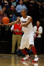 Dec 22, 2011; Stanford CA, USA;  Stanford Cardinal forward/center Josh Owens (13) passes the ball against the Butler Bulldogs during the second half at Maples Pavilion. Butler defeated Stanford 71-66. Mandatory Credit: Jason O. Watson-US PRESSWIRE