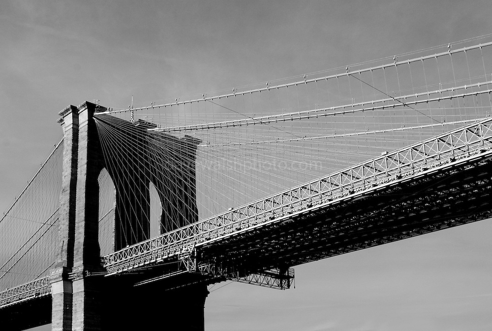 "The Brooklyn Bridge, photographed from a water taxi.. This mage can be licensed via Millennium Images. Contact me for more details, or email mail@milim.com For prints, contact me, or click ""add to cart"" to some standard print options."