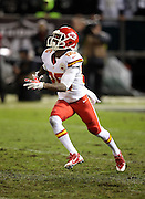 Kansas City Chiefs punt returner Frankie Hammond Jr. (85) looks up to catch a punt during the NFL week 12 regular season football game against the Oakland Raiders on Thursday, Nov. 20, 2014 in Oakland, Calif. The Raiders won their first game of the season 24-20. ©Paul Anthony Spinelli