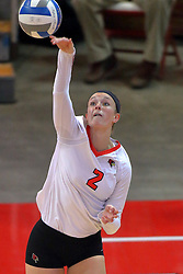 18 November 2016:  Jaelyn Keene during an NCAA women's volleyball match between the Northern Iowa Panthers and the Illinois State Redbirds at Redbird Arena in Normal IL (Photo by Alan Look)