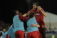 FOOTBALL - FRENCH CHAMPIONSHIP 2010/2011 - L1 - VALENCIENNES FC v OGC NICE - 29/05/2011 - PHOTO ALAIN GADOFFRE / DPPI - JOY GREGORY PUJOL  (VA) AFTER HIS GOAL