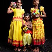 Wivashini Darshana (10), Sarvika Raj (9), Jasper Harish Raj (3)