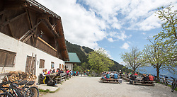 THEMENBILD - durch die Region in und um Innsbruck führen zahlreiche Wanderwege und -routen für alle Zielgruppen. Vom Familienwanderweg bis zu hochalpinen Touren ist für alle Naturbegeisterten etwas dabei. Im Bild die Höttinger Alm // The region in and around Innsbruck lead numerous hiking trails and routes for all target groups. From the family hiking trail to high alpine tours, there is something for all nature enthusiasts. Innsbruck, Austria on2017/05/21. EXPA Pictures © 2017, PhotoCredit: EXPA/ Jakob Gruber