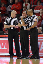 18 March 2015:  Kipp Kissinger, Tom O'Neill, Lewis Garrison during an NIT men's basketball game between the Green Bay Phoenix and the Illinois State Redbirds at Redbird Arena in Normal Illinois