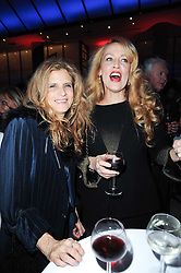 Left to right, SUZANNE WYMAN and JERRY HALL at the Costa Book Awards 2009 held at Quaglino's, 16 Bury Street, London SW1 on 26th January 2010.