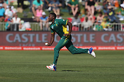 Andile Phehlukwayo of South Africa during the 3rd ODI match between South Africa and Australia held at Kingsmead Stadium in Durban, Kwazulu Natal, South Africa on the 5th October  2016<br /> <br /> Photo by: Steve Haag/ RealTime Images