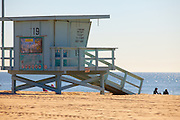 Lifeguard Tower 19 at Venice Beach California