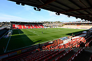 General view inside St James Park ahead of the EFL Sky Bet League 2 match between Exeter City and Cheltenham Town at St James' Park, Exeter, England on 16 November 2019.