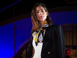 September 30, 2018 - Garbine Muguruza of Spain on the red carpet at the 2018 China Open WTA Premier Mandatory tennis tournament players party (Credit Image: © AFP7 via ZUMA Wire)
