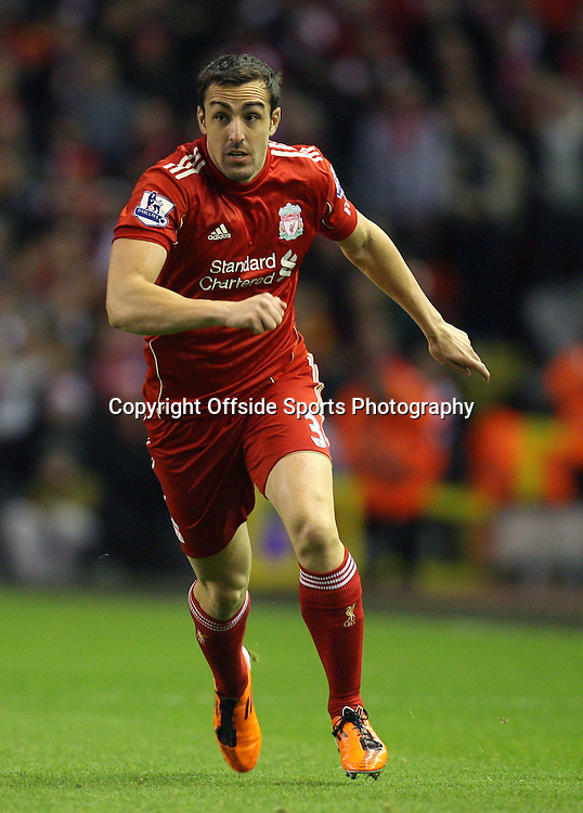 25/01/2012 - Carling Cup Semi-Final (2nd Leg) - Liverpool vs. Manchester City - Jose Enrique of Liverpool - Photo: Simon Stacpoole / Offside.