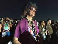 06212016 - Noblesville, Indiana, USA: A neo-Prankster named Wizard of Wonder hangs out on the lawn at Klipsch Music Center (Deer Creek) as members of the Grateful Dead perform as Dead and Company. The Grateful Dead's final show at  Deer Creek in July 1995 was marred by over a thousand fans crashing the gates leading to the next day's show being canceled. Grateful Dead guitarist Jerry Garcia died a few weeks later. (Jeremy Hogan/Polaris)