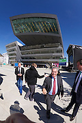 Vienna, Austria. Opening Day of the new WU Campus (University of Economics).<br /> Austrian President Heinz Fischer (red tie).