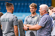 Leeds United forward Patrick Bamford (9) arrives at the ground during the EFL Cup match between Leeds United and Stoke City at Elland Road, Leeds, England on 27 August 2019.