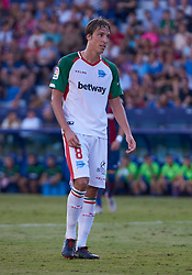 September 30, 2018 - Valencia, U.S. - VALENCIA, SPAIN - SEPTEMBER 30: Tom‡s Pina, midfielder of Deportivo Alaves looks during the La Liga match between Levante UD and Deportivo Alaves at Estadio Ciutat de Valencia on September 30, 2018, in Valencia, Spain. (Photo by Carlos Sanchez Martinez/Icon Sportswire) (Credit Image: © Carlos Sanchez Martinez/Icon SMI via ZUMA Press)
