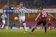 Millwall striker Aiden O?Brien (22) intercepts the ball  during the EFL Sky Bet League 1 match between Bradford City and Millwall at the Northern Commercials Stadium at Valley Parade, Bradford, England on 21 January 2017. Photo by Simon Davies.