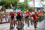 Arrival, Elia Viviani (ITA - QuickStep - Floors) winner, during the UCI World Tour, Tour of Spain (Vuelta) 2018, Stage 3, Mijas - Alhaurin de la Torre 178,2 km in Spain, on August 27th, 2018 - Photo Luis Angel Gomez / BettiniPhoto / ProSportsImages / DPPI