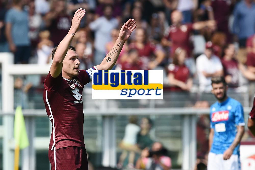esultanza gol Andrea Belotti Goal Celebration <br /> Torino 23-09-2018 Stadio Olimpico Grande Torino Football Calcio Serie A 2018/2019 Torino - Napoli Foto Image Sport / Insidefoto