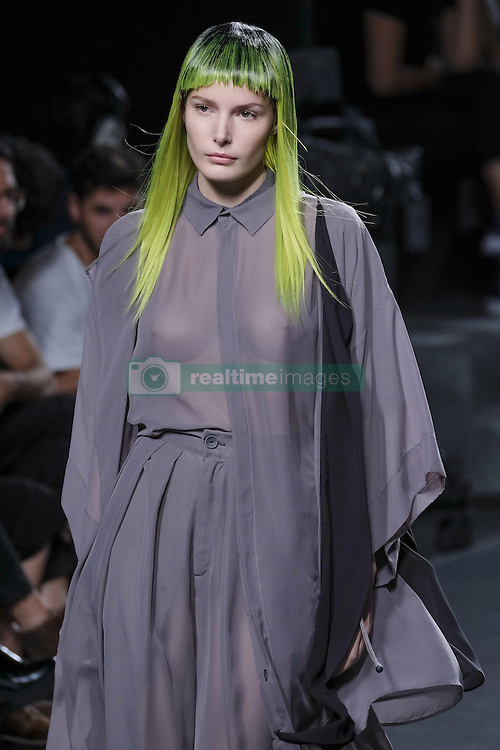 September 20, 2016 - Madrid, Spain - A models walks during 44STUDIO Fashion Show at Madrid EGO Fashion Week Spring/Summer 2017/18 at Ifema, on September 20, 2016, in Madrid, Spain  (Credit Image: © Oscar Gonzalez/NurPhoto via ZUMA Press)