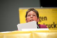 08 JAN 2011, BERLIN/GERMANY:<br /> Inge Viett, Radikale Linke, Autorin und ehemaliges Mitglied der RAF, Podiumsdiskussion, 16. Internationale Rosa-Luxenburg-Konferenz, Urania Haus<br /> IMAGE: 20110108-01-049