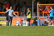 Forest Green Rovers manager, Mark Cooper during the Vanarama National League match between Braintree Town and Forest Green Rovers at the Amlin Stadium, Braintree, United Kingdom on 24 September 2016. Photo by Shane Healey.