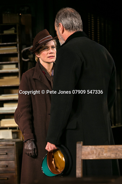 An Enemy of the People by Henrik Ibsen;<br /> Directed by Howard Davies;<br /> William Gaminara as Peter Stockmann;<br /> Abigail Cruttenden as Mrs Stockmann;<br /> Chichester Festival Theatre, Chichester, UK;<br /> 29 April 2016