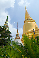 Stupas in Wat Phra near Royal Grand Palace Kaew Bangkok Thailand&#xA;<br />