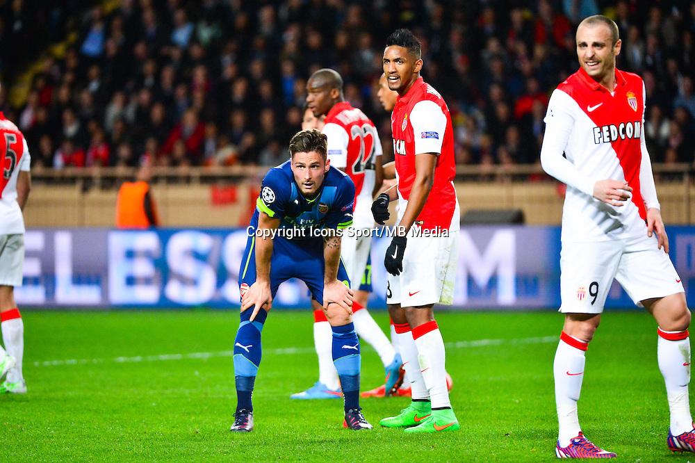Deception Olivier GIROUD - 17.03.2015 - Monaco / Arsenal - 1/8Finale Retour Champions League<br />Photo : Dave Winter / Icon Sport