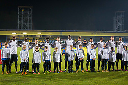 Players of France during football match between Slovenia and France in Qualifying round for European Under-21 Championship 2019, on November 13, 2017 in Sportni park, Domzale, Slovenia.  Photo by Ziga Zupan / Sportida