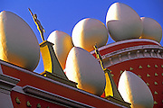 SPAIN, COSTA BRAVA, FIGUERES Surrealist roof-top at Teatro-Museo Dali