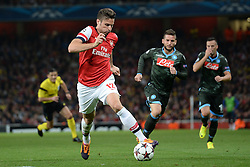 LONDON, ENGLAND - Oct 01: Arsenal's forward Olivier Giroud from France during the UEFA Champions League match between Arsenal from England and Napoli from Italy played at The Emirates Stadium, on October 01, 2013 in London, England. (Photo by Mitchell Gunn/ESPA)