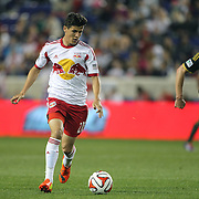 Ruben Bover, New York Red Bulls,  in action during the New York Red Bulls Vs Portland Timbers, Major League Soccer regular season match at Red Bull Arena, Harrison, New Jersey. USA. 24th May 2014. Photo Tim Clayton