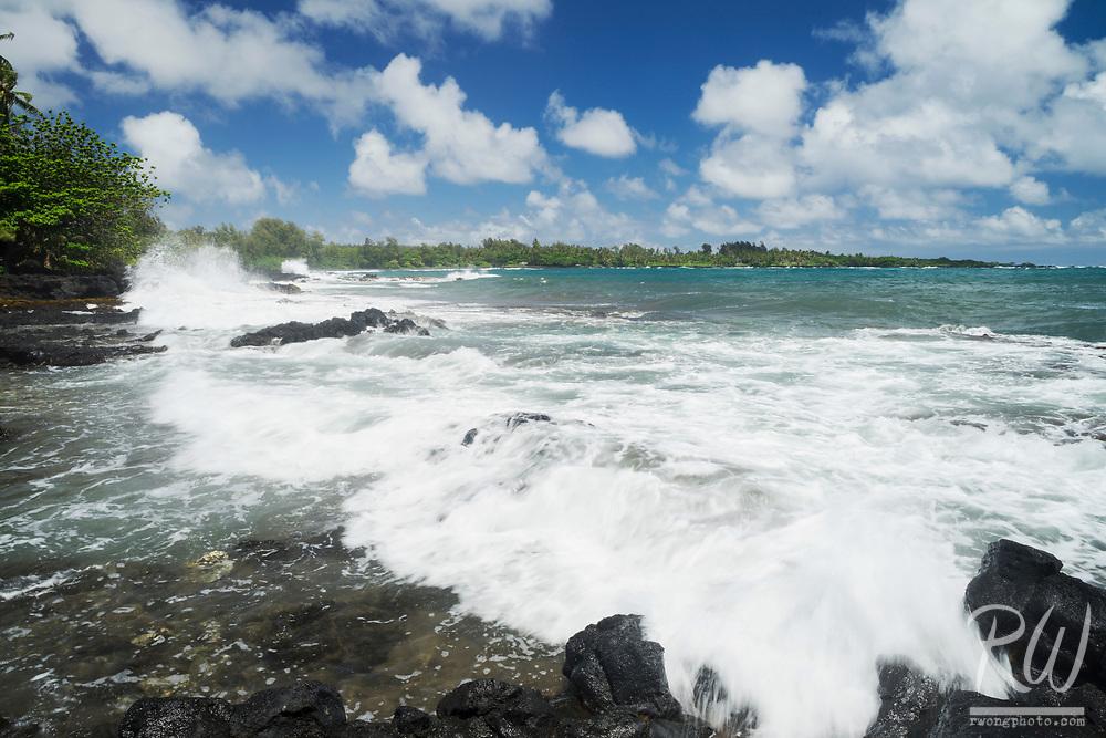 Waianapanapa Black Sand Beach, Hana, Maui, Hawaii