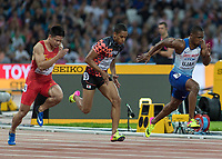 Athletics - 2017 IAAF London World Athletics Championships - Day One<br /> <br /> Event: Men's 100 Metres Qualifying <br /> <br /> Chindi Ujah (GBR)sprints away at the start of his race <br /> <br /> <br /> COLORSPORT/DANIEL BEARHAM