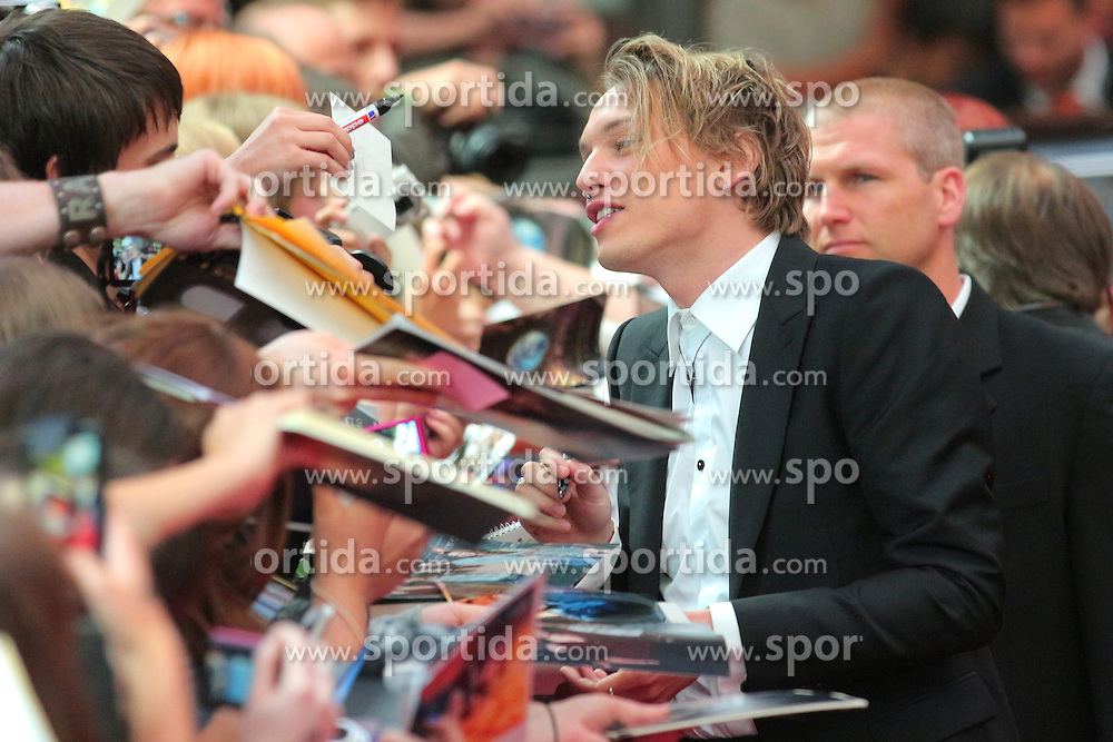 20.08.2013, Cinestar Sony Center, Berlin, GER, Europapremiere, Chronikern der Unterwelt, City of Bones, im Bild Jamie Campbell Bower // during photocall for the europepremiere of the movie City of Bones at the CineStar Sony Center in Berlin, Germany on 2013/08/20. EXPA Pictures &copy; 2013, PhotoCredit: EXPA/ Newspix/ Stephan Schraps<br /> <br /> ***** ATTENTION - for AUT, SLO, CRO, SRB, BIH, TUR, SUI and SWE only *****