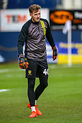 Burton Albion goalkeeper Bradley Collins, on loan from Chelsea U23 (40) warms up during the EFL Sky Bet League 1 match between Luton Town and Burton Albion at Kenilworth Road, Luton, England on 22 December 2018.