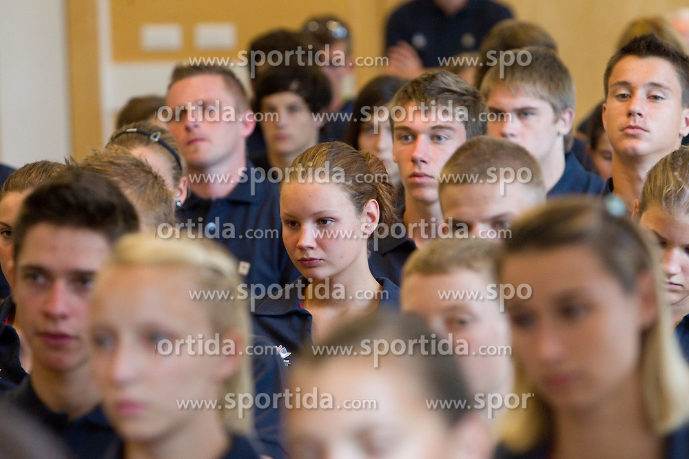 Swimmer Kaja Sajovec during presentation of Team Slovenia for 11th European Youth Olympic Festival EYOF Trabzon in Turkey, on July 20, 2011, in Ljubljana, Slovenia. (Photo by Vid Ponikvar / Sportida)