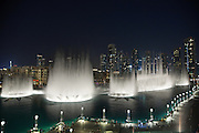 The Dubai Fountain in Downtown Dubai, next to The Dubai Mall