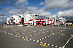 A General View of the Britannia Stadium before the match - Photo mandatory by-line: Rogan Thomson/JMP - 07966 386802 - 19/10/2014 - SPORT - FOOTBALL - Stoke-on-Trent, England - Britannia Stadium - Stoke City v Swansea City - Barclays Premier League.