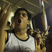 Vasco fans react to a refereeing decision during the Vasco V Atletico MG during the Brasileiro  league match as São Januário Stadium. The match ended in a 1-1 draw, Rio de Janeiro, Brazil. 9th September 2010. Photo Tim Clayton