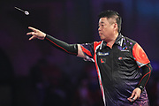 Paul Lim during the William Hill PDC World Darts Championship at Alexandra Palace, London, United Kingdom on 18 December 2017. Photo by Shane Healey.