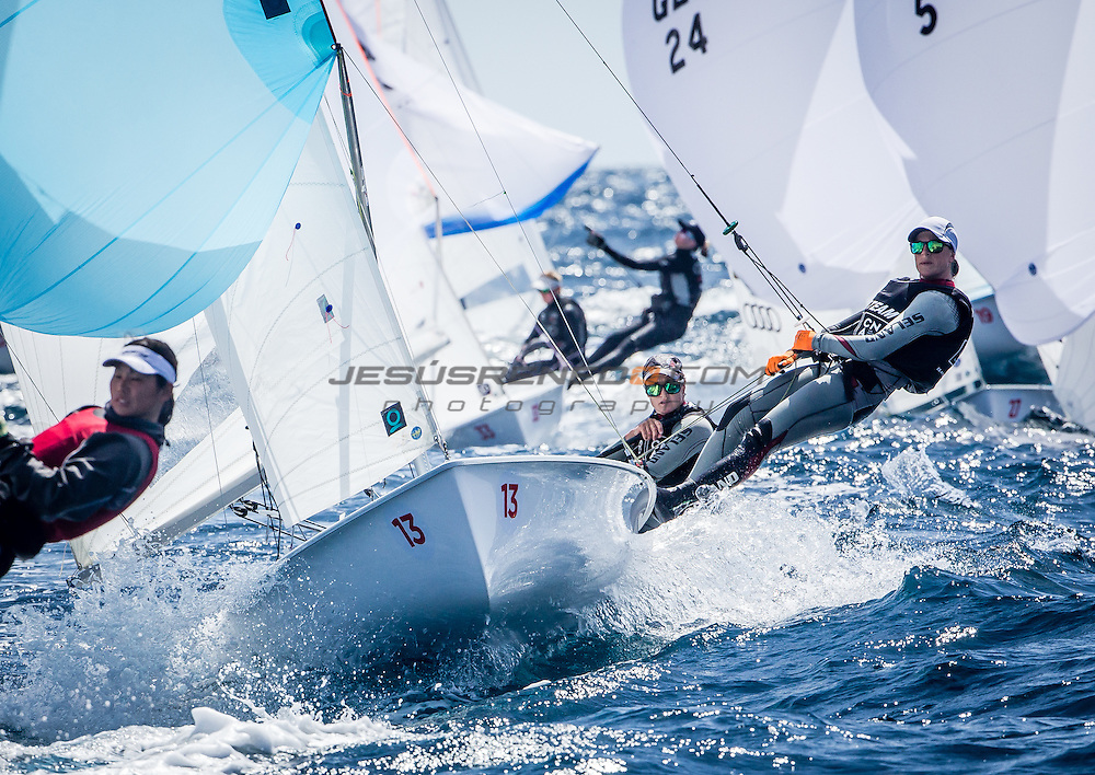2016 470 European  Championship, Bay of Palma, Mallorca, Spain, 5-12 April 2016<br /> Featuring over 250 of the world&rsquo;s best 470 Men and Women Olympic Class sailors representing 33 nations<br /> &copy;Jesus Renedo/Sailing Energy/CNA