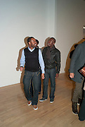 LAWRENCE LARTEY; EDDIE KADI, Chris Ofili private view for the opening of his exhibition. Tate. London. 25 January 2010