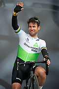 Mark Cavendish of Dimension Data on stage for rider sign on and presentation ahead of the start of the first stage of the Tour de Yorkshire from Doncaster to Selby, Doncaster, United Kingdom on 2 May 2019.